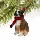 DTX102C Boxer, Brindle, Uncropped Christmas Ornament