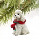 DTX104A Poodle, White, Sport cut Christmas Ornament