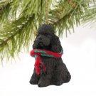 DTX104E Poodle, Chocolate, Sport cut Christmas Ornament