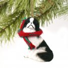 DTX110A Japanese Chin, Black & White Christmas Ornament