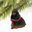DTX15F Cocker Spaniel, Black & Tan Christmas Ornament