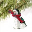 DTX22B Springer Spaniel, Black & White Christmas Ornament