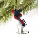 DTX50B Fox Terrier, Black & White Christmas Ornament
