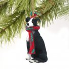DTX54A Greyhound, Black & White Christmas Ornament