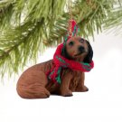 DTX60A Dachshund, Longhaired, Red Christmas Ornament