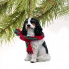 DTX80B Cavalier King Charles, Black & White Christmas Ornament