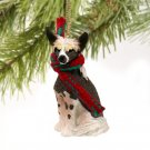 DTX81 Chinese Crested Dog Christmas Ornament