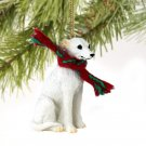 DTX92A Whippet, White Christmas Ornament