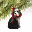 DTX95 Bearded Collie Christmas Ornament