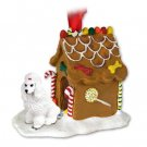 GBHD01A Poodle, White Ginger Bread House