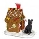 GBHD08D German Shepherd, Black Ginger Bread House