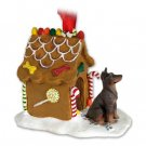 GBHD25B Doberman, Red Ginger Bread House