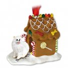 GBHD83 American Eskimo Miniature Ginger Bread House
