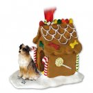 GBHD99A Australian Shepherd Brown Ginger Bread House