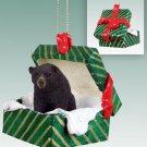 GGBA02 Black Bear  Green Gift Box Ornament