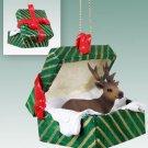 GGBA33 Elk, Bull Green Gift Box Ornament