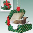 GGBA34 Elk, Cow Green Gift Box Ornament