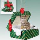 GGBA39 Bobcat  Green Gift Box Ornament