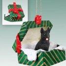 GGBD08D German Shepherd, Black Green Gift Box Ornament