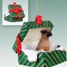 GGBD102B Boxer, Tawny, Uncropped Green Gift Box Ornament