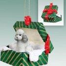 GGBD104B Poodle, Gray, Sport cut Green Gift Box Ornament