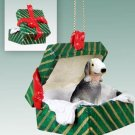 GGBD115 Bedlington Terrier Green Gift Box Ornament