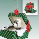 GGBD120 Dandie Dinmont Green Gift Box Ornament