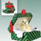 GGBD15C Cocker Spaniel, Blonde Green Gift Box Ornament