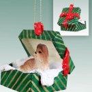GGBD26B Shih Tzu, Tan Green Gift Box Ornament