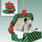 GGBD45 Skye Terrier  Green Gift Box Ornament