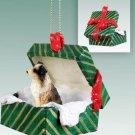 GGBD99D Australian Shepherd Brown, Docked Green Gift Box Ornament