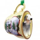 HTCD115 Bedlington Terrier Snowman Holiday Tea Cup Ornament