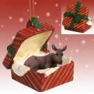 RGBA23 Moose, Cow Red Gift Box Ornament