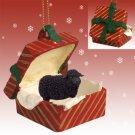 RGBA50 Sheep, Black Red Gift Box Ornament