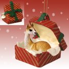 RGBA54 Llama Red Gift Box Ornament