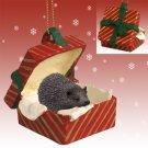 RGBA58 Hedgehog Red Gift Box Ornament