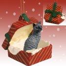 RGBC07 Cornish Rex Blue Red Gift Box Ornament