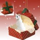 RGBC19 Oriental Shorthair White Red Gift Box Ornament