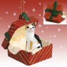 RGBC24 Japanese Bobtail Tortoise & White Red Gift Box Ornament