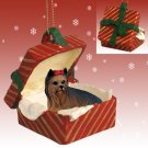 RGBD04 Yorkshire Terrier Red Gift Box Ornament