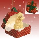 RGBD104C Poodle, Apricot, Sport cut Red Gift Box Ornament