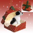 RGBD105B Jack Russell Terrier, Black & White, Smooth Coat Red Gift Box Ornament