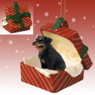 RGBD11 Rottweiler  Red Gift Box Ornament