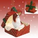 RGBD110B Japanese Chin, Brown & White Red Gift Box Ornament