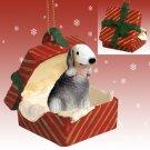 RGBD115 Bedlington Terrier Red Gift Box Ornament