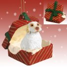 RGBD116 Clumber Spaniel Red Gift Box Ornament