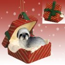 RGBD129A Lhasa Apso, Gray, Sport cut Red Gift Box Ornament