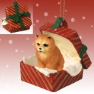 RGBD21B Chow, Red, Red Gift Box Ornament