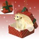 RGBD24B Labrador Retriever, Yellow Red Gift Box Ornament
