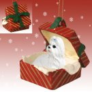 RGBD26E Shih Tzu, White Red Gift Box Ornament
